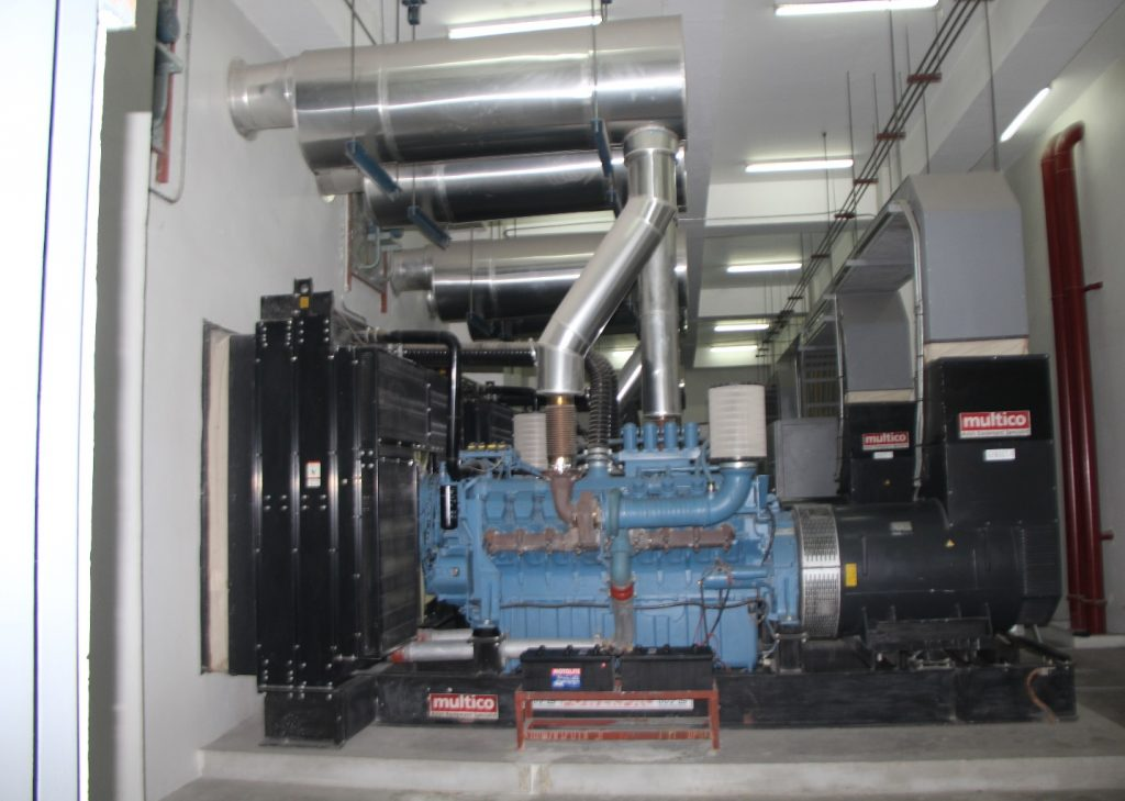 3 x 1500kVA MTU – powered Generator sets (Synchronized)