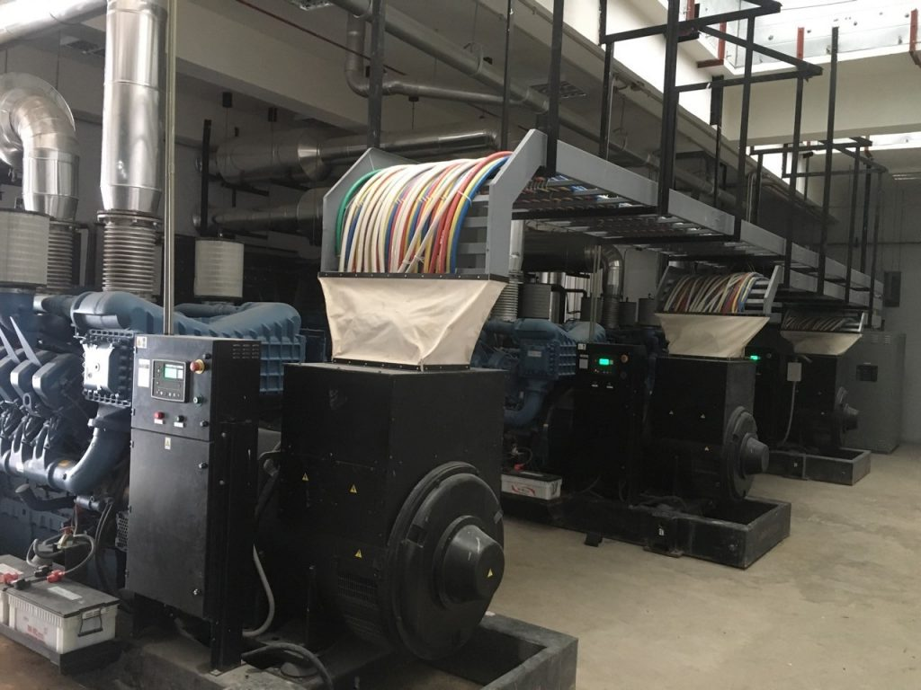 3 x 2500kVA MTU-powered Generator sets (Synchronized)