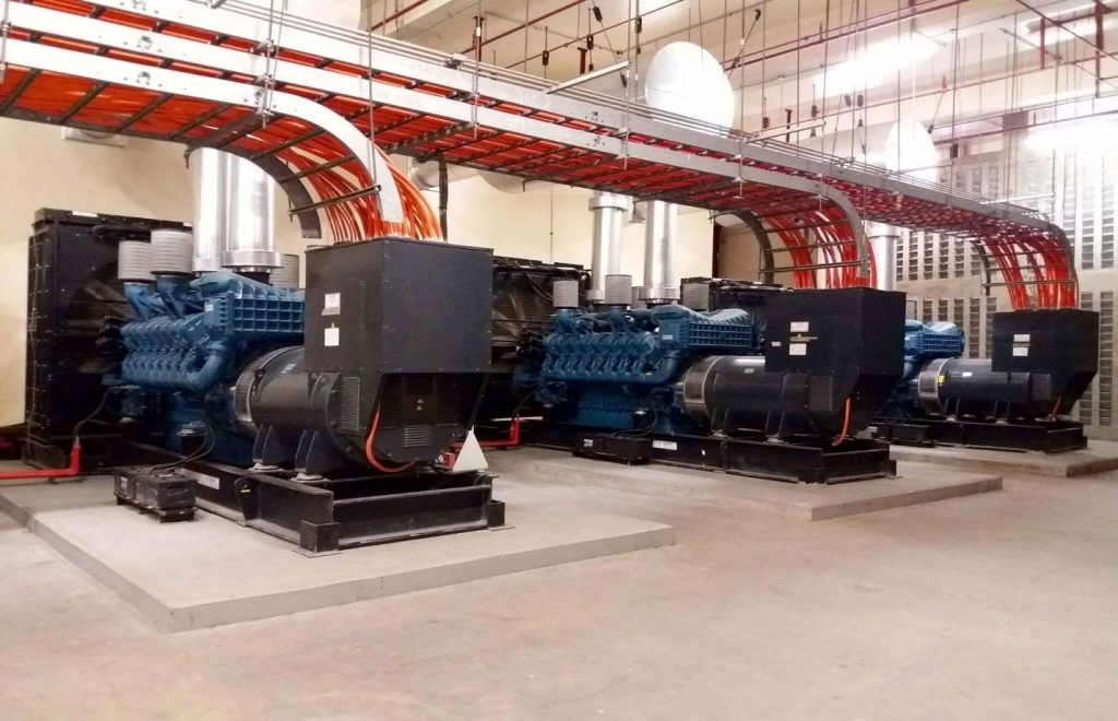 8 x 2813kVA MTU-powered Generator sets (Synchronized)