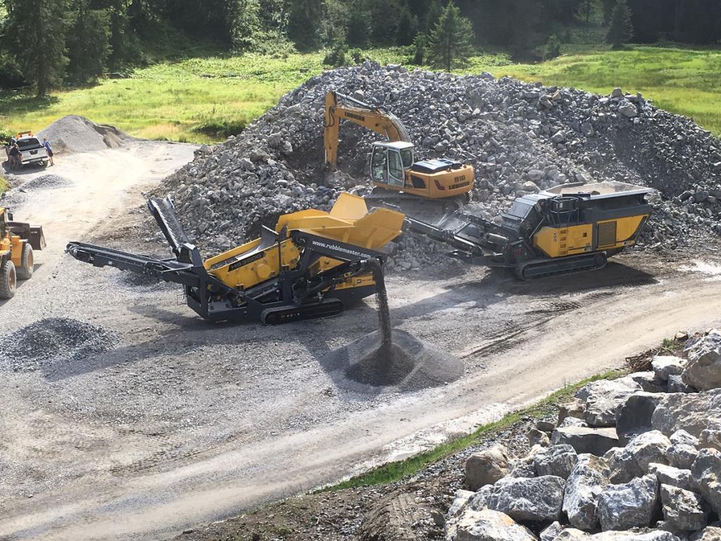 RM 100GO! + HS3500 Naturstein Rüf Baustelle Ofen bergbahnen kl. Walsertal (4)