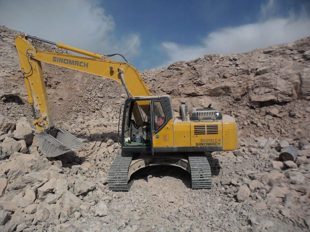 Sinomach excavator on dirt