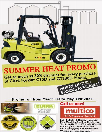 30% Discount for Clark Forklift Models