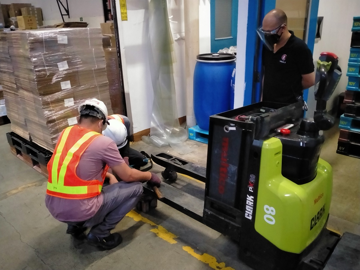 Forklift Attachment Installation and Modification
