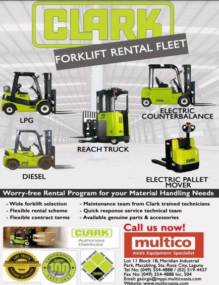 Worry-free Clark Forklift Rental Programs